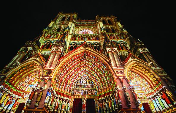 amiens cathedrale mise en couleur