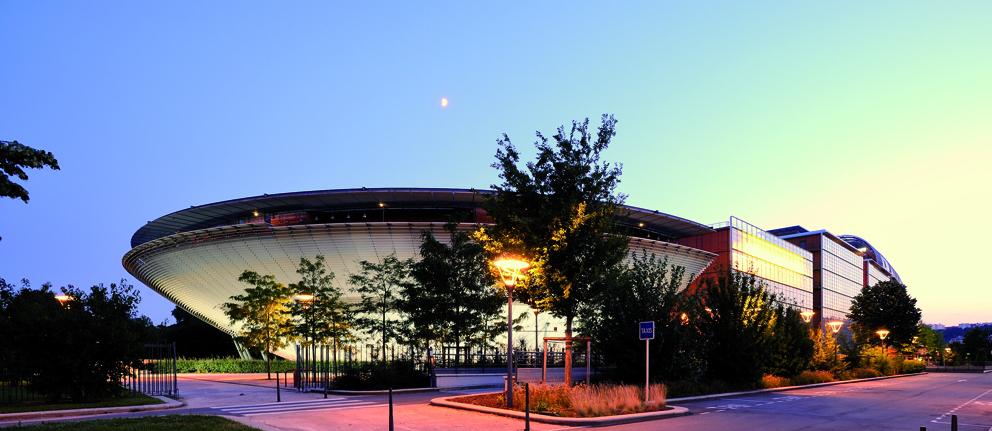 bâtiment de la cite internationale de Lyon